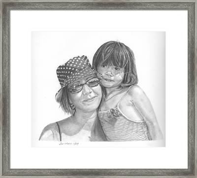 Mom And Me Framed Print by Sue Olson