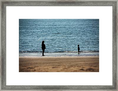 Mom And Son Moments Framed Print by Karol Livote