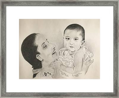 Mom, Child Framed Print