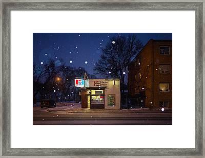 Mom Dads Grocery Framed Print by Bryan Scott