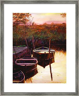 Moment At Sunrise Framed Print by David Lloyd Glover