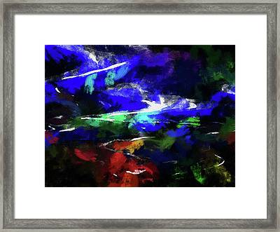 Moment In Blue Lazy River Framed Print