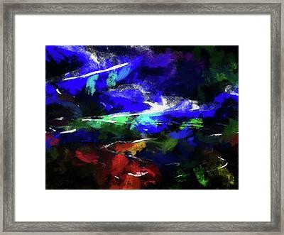 Moment In Blue Lazy River Framed Print