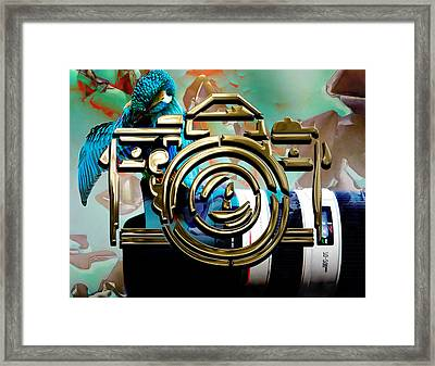 Moment In Time Camera Collection Framed Print by Marvin Blaine