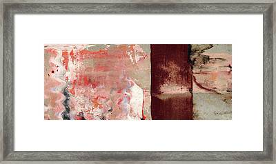 Moment Of Glory - Contemporary Earthtone Abstract Art Painting Framed Print by Modern Art Prints