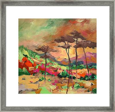 Moment Of Serenity Framed Print by Linda Monfort