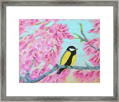 Moment Of Spring Framed Print by Larysa Kalynovska