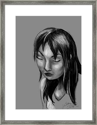 Moment Of Weakness Framed Print by Siobhan Yost