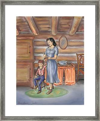 Moments With Mom Framed Print