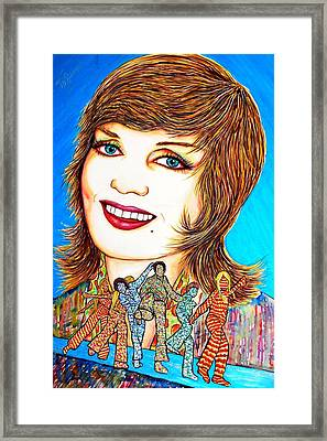 Momma Brady N Da Bunch Framed Print by Joseph Lawrence Vasile