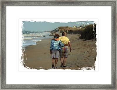Dot And Daughter Framed Print by Laura Ragland