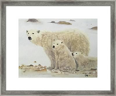 Mommy Bear Framed Print by Annie Poitras