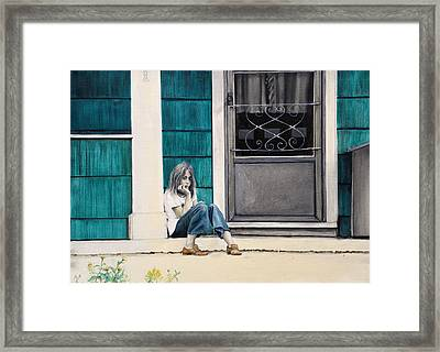 Mommy Loves Green Framed Print by Richard Barone