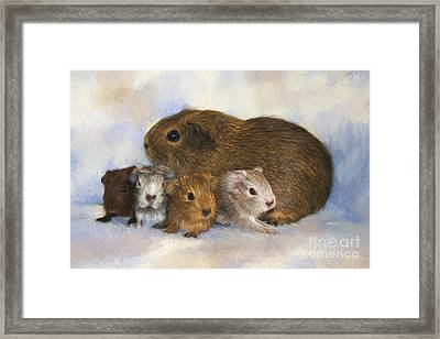 Mommy With Children Framed Print by Jutta Maria Pusl