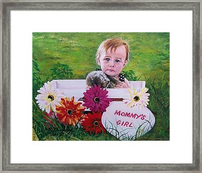 Mommy's Girl Framed Print by Sharon Duguay