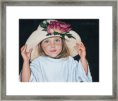 Mommy's Hat Framed Print by Penny Birch-Williams