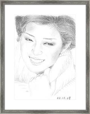 Momoe Yamaguchi Framed Print by Eliza Lo
