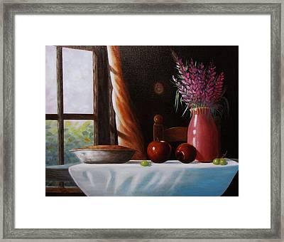 Mom's Apple Pie  Framed Print by Gene Gregory