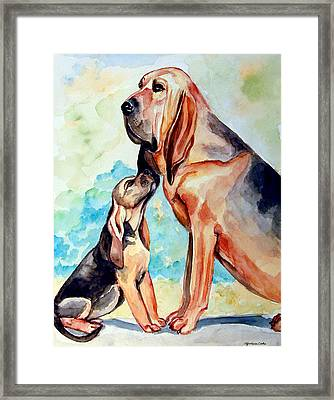 Mom's Day - Bloodhound Framed Print