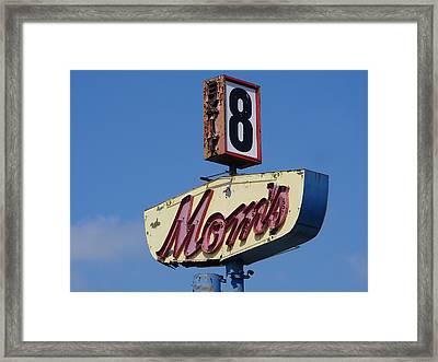 Mom's Diner At Exit 8 Framed Print by Richard Reeve