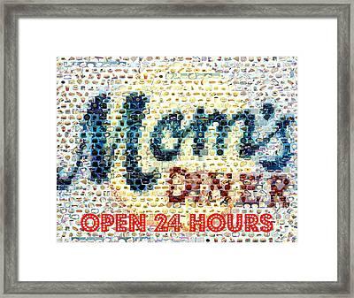 Moms Diner Food Mosaic Framed Print by Paul Van Scott