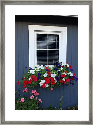 Mom's Flowers Framed Print