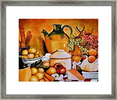 Mom's Kitchen Framed Print by Dalgis Edelson