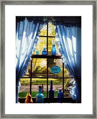 Mom's Kitchen Window Framed Print