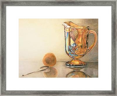 Mom's Orange Juice Pitcher Framed Print by Charlotte Yealey