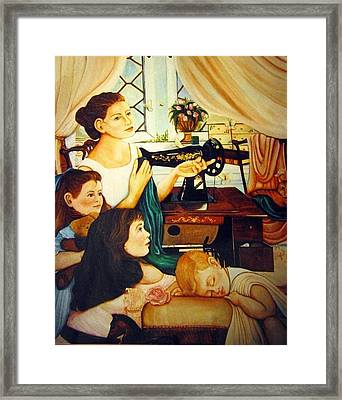 Mom's Sewing Room  Framed Print