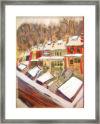 Framed Print featuring the painting Mom's View by Leslie Byrne