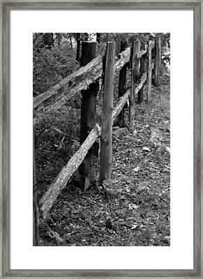 Momvisitfence-carterlane Framed Print by Curtis J Neeley Jr