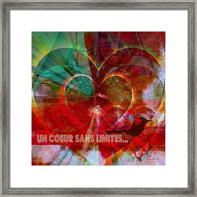 Framed Print featuring the digital art Mon Coeur - My Heart by Fania Simon