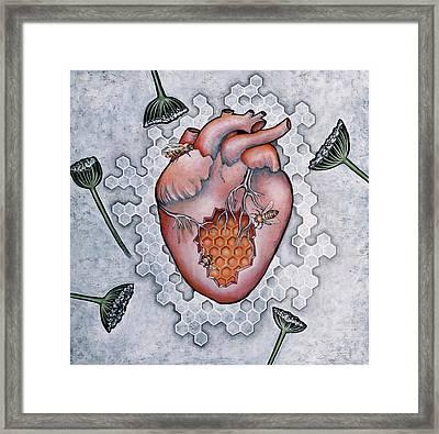 Mon Coeur- Where The Honeybees Live Framed Print