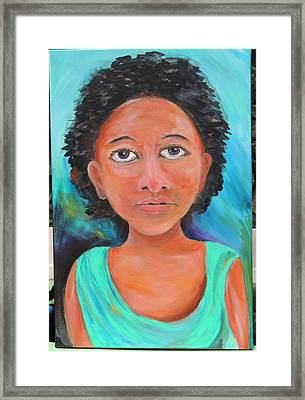Mona Framed Print by Debbie Hall