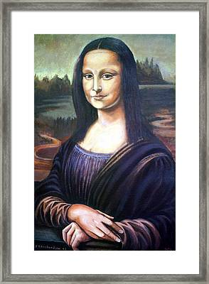 Mona Liisa Framed Print by James Richardson