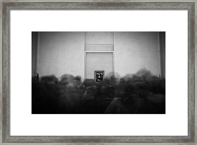 Mona Lisa And Her Fans Framed Print by Charly Lataste
