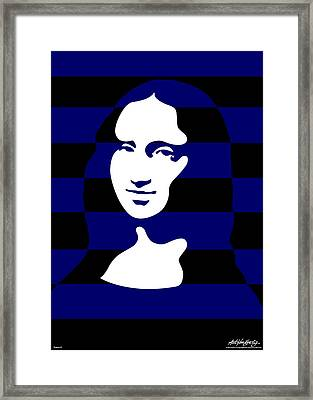 Mona Lisa Framed Print by Asbjorn Lonvig