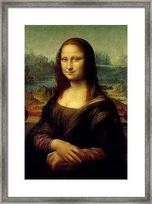 Mona Lisa - By Leonardo Da Vinci Framed Print