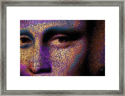 Mona Lisa Eyes 1 Framed Print by Tony Rubino