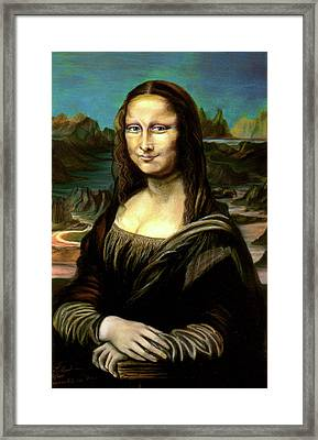 Mona Lisa My Version Framed Print