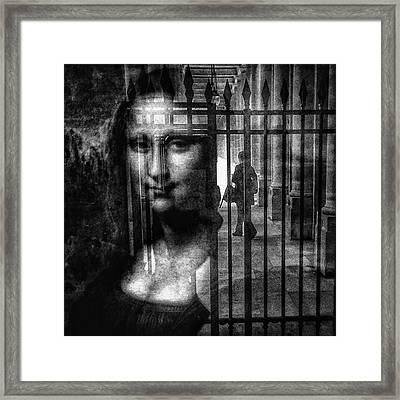 Mona Lisa  #monalisa #cage #art Framed Print
