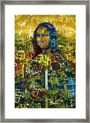 Framed Print featuring the mixed media Mona by Tony Rubino