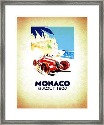 Monaco 1937 Framed Print