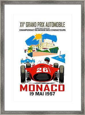 Monaco 1957 Framed Print