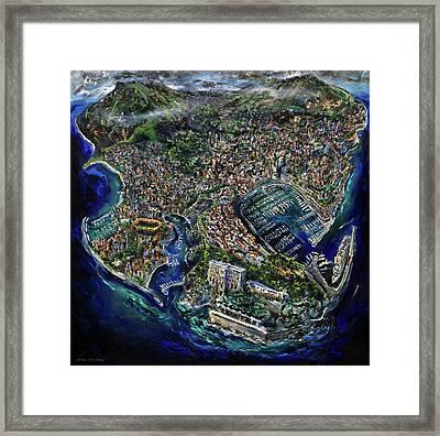 Monaco Framed Print by Antonio Ortiz