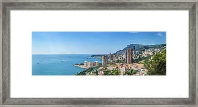 Monaco Cote D'azur - Panorama Framed Print by Melanie Viola