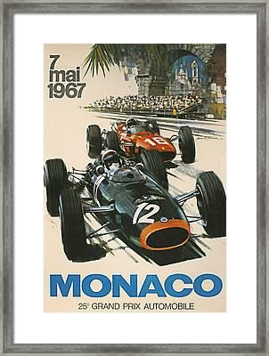 Monaco Grand Prix 1967 Framed Print