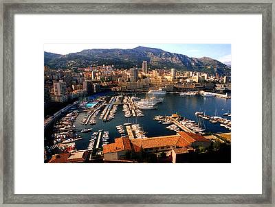 Monaco Harbor Framed Print