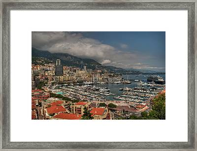 Framed Print featuring the photograph Monaco - La Condamine 001 by Lance Vaughn